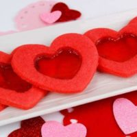 Heart-Shaped Stained Glass Cookies