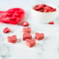 Strawberry White Chocolate Hearts (Dairy Free)