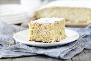 Vanilla Butter Cake plated