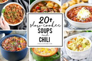 Slow Cooker Soups and Chili Recipes Collage