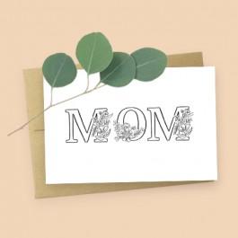 Mom Card and Eucalyptus