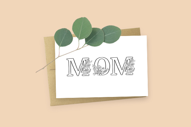 Mom Card and Eucalyptus