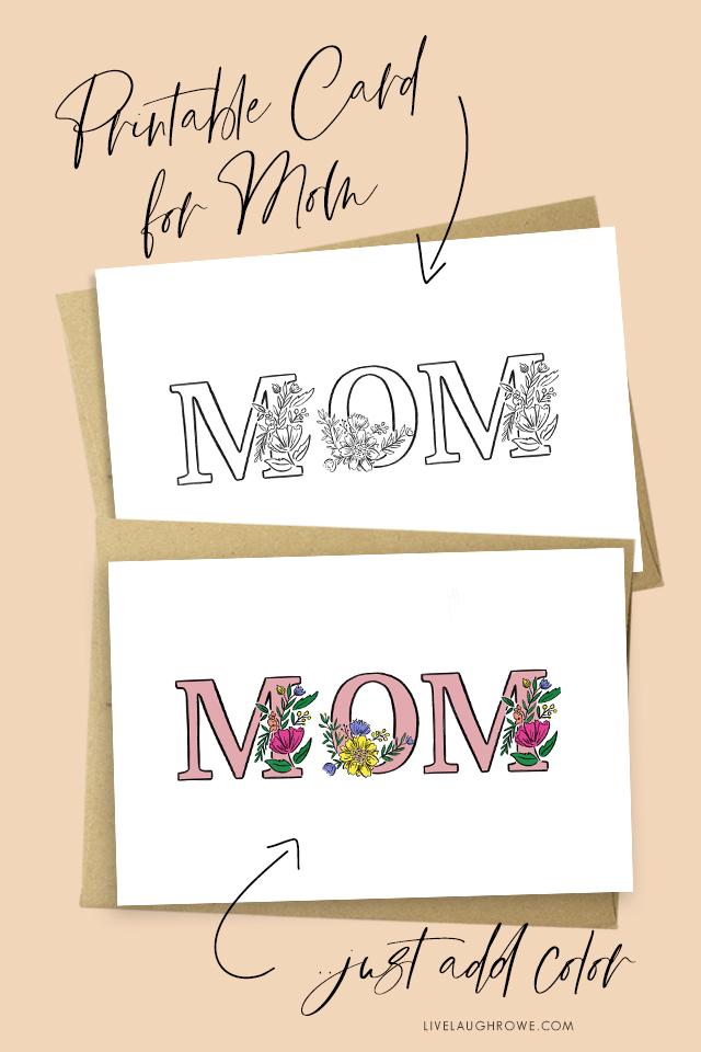 Mom Printable Card