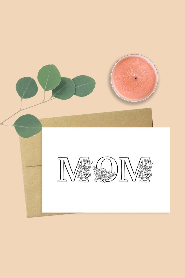 Black and White Mom Card