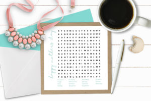 Styled Printable Word Game