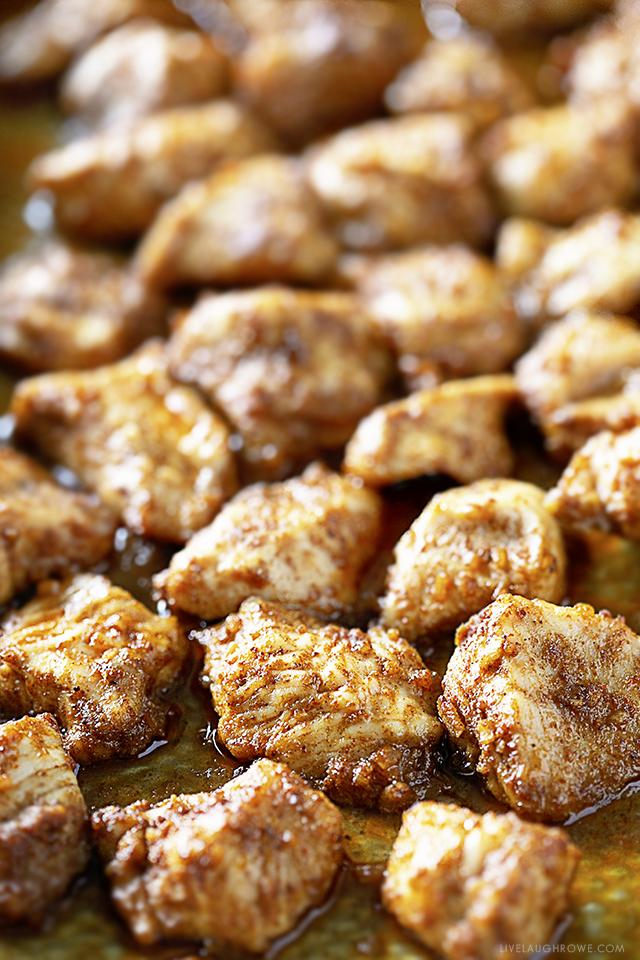 Close-Up Taco Chicken Bites