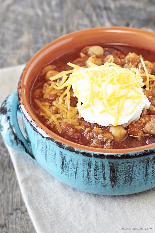 Bowl of Three Bean Chili