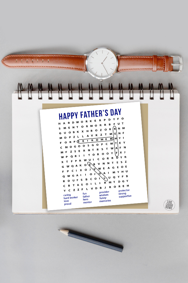 Father's Day Word Search Activity