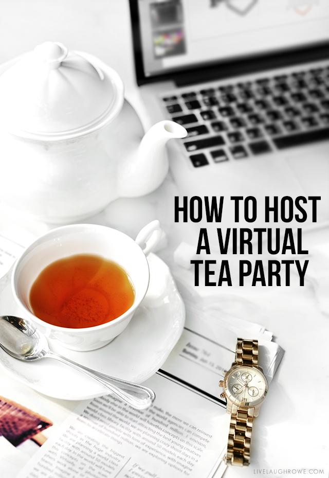 Host a Virtual Tea Party Graphic