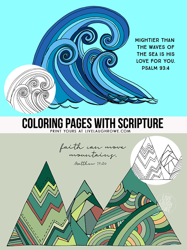Colored In Coloring Pages with Scripture