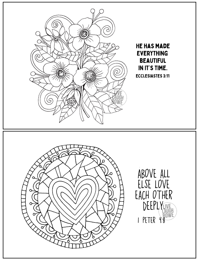 Coloring Pages with Scripture