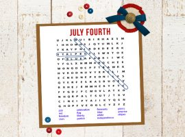 Patriotic Word Search Printable