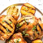Grilled Chicken Thighs with Peach Barbecue Marinade