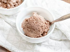 Bowl of Keto Chocolate Ice Cream