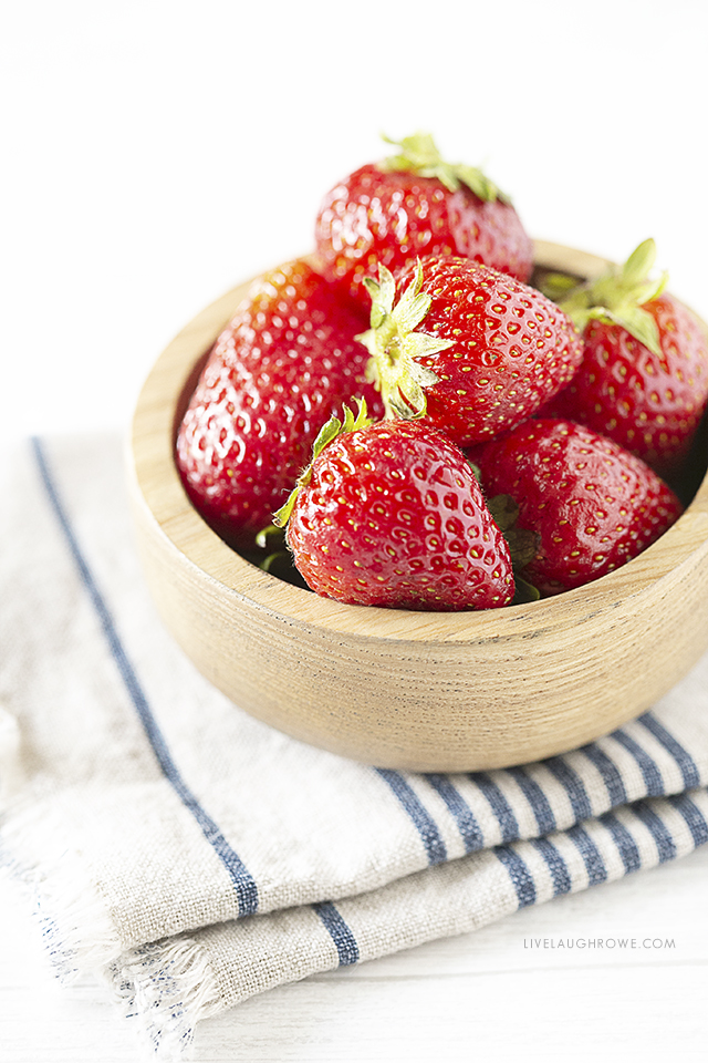 Fresh Bowl of Strawberries