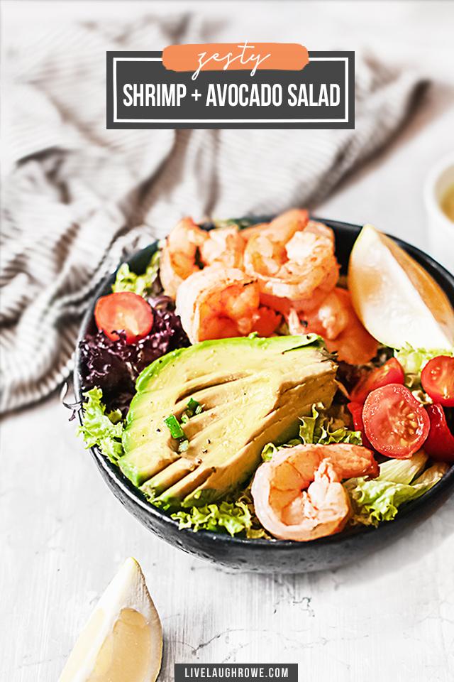 Plated Shrimp Avocado Salad