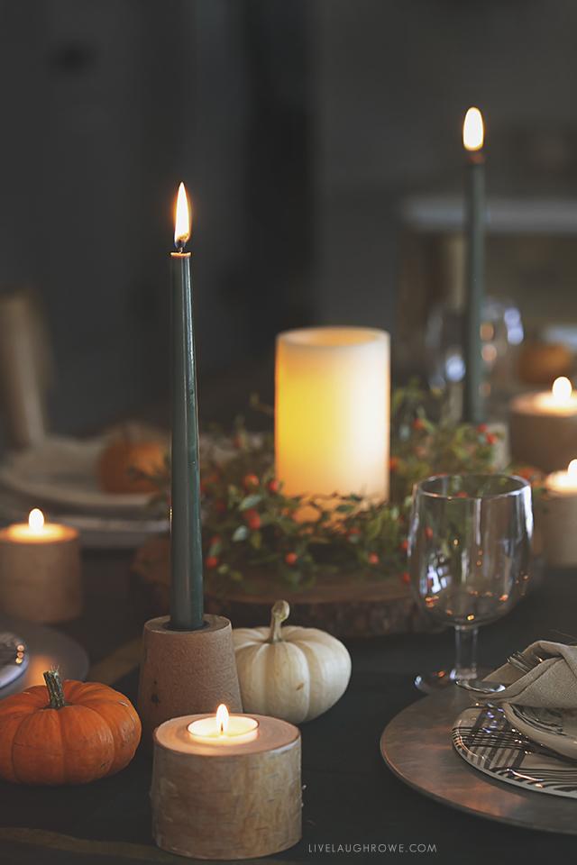 Autumn Tablescape at Dusk