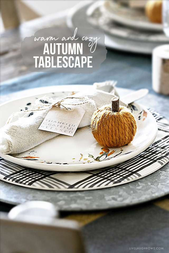 Place Setting on Autumn Tablescape