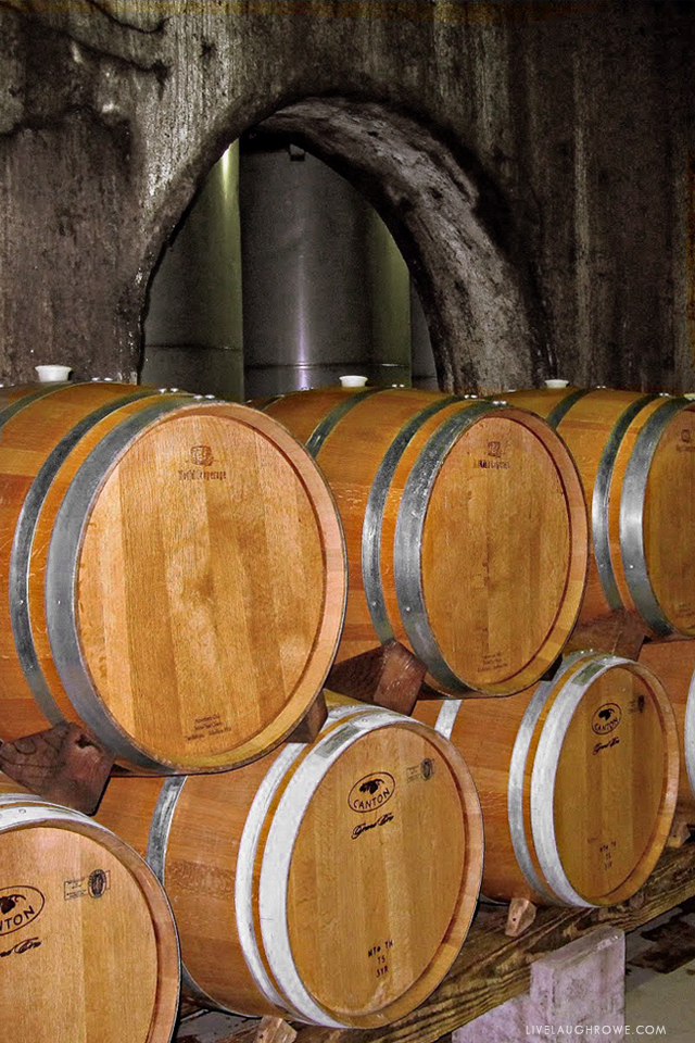 Wine Barrels in Missouri Winery