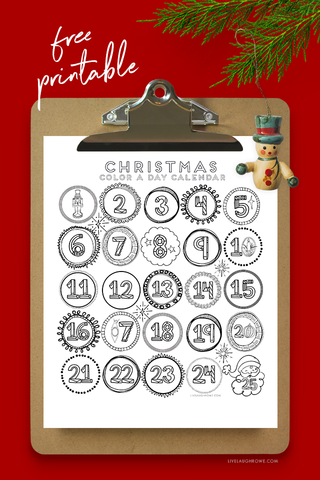 Advent Coloring Sheet