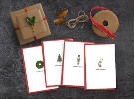 Four Free Printable Christmas Cards