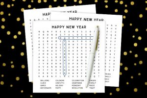 Printable New Year's Word Search