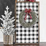 Simple Christmas Wreath   Loop Yarn Wreath