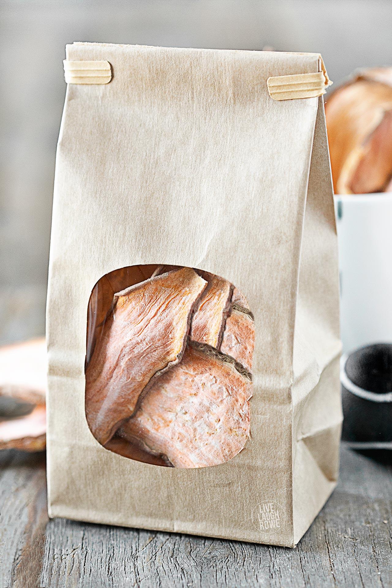 Sweet Potato Dog Treats in Bags