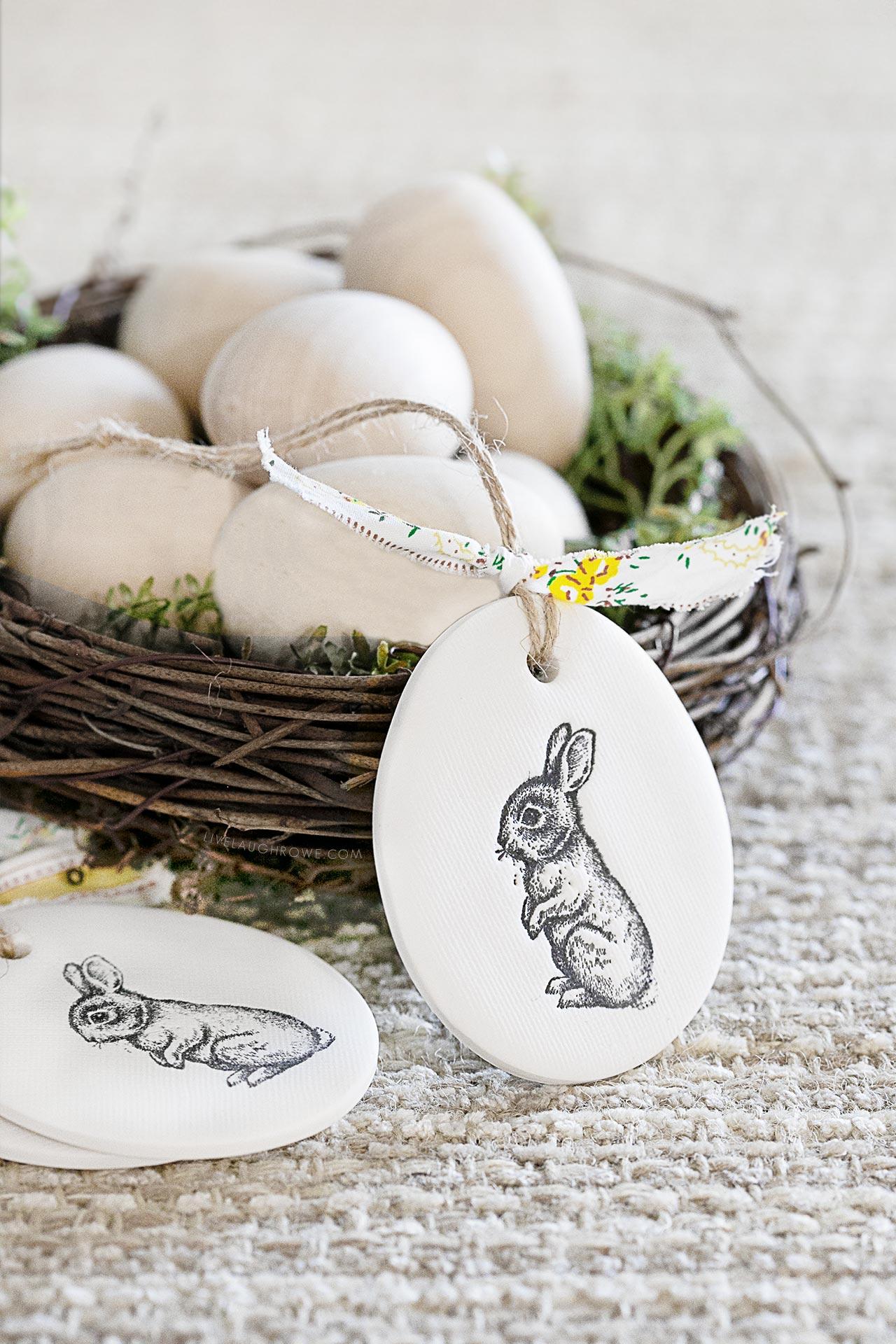 Rabbit Polymer Clay Ornaments.