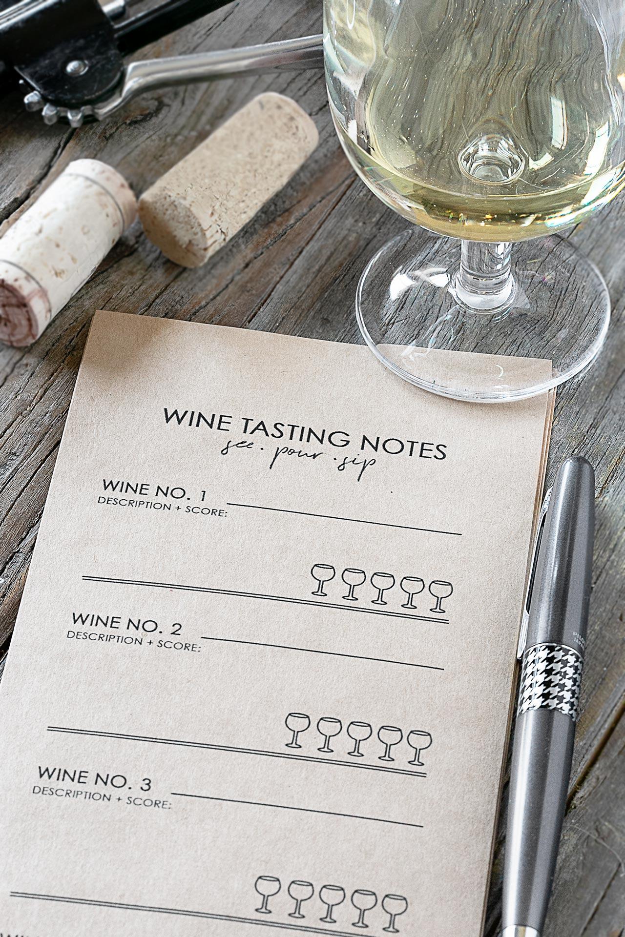 Wine Tasting Notes Printable