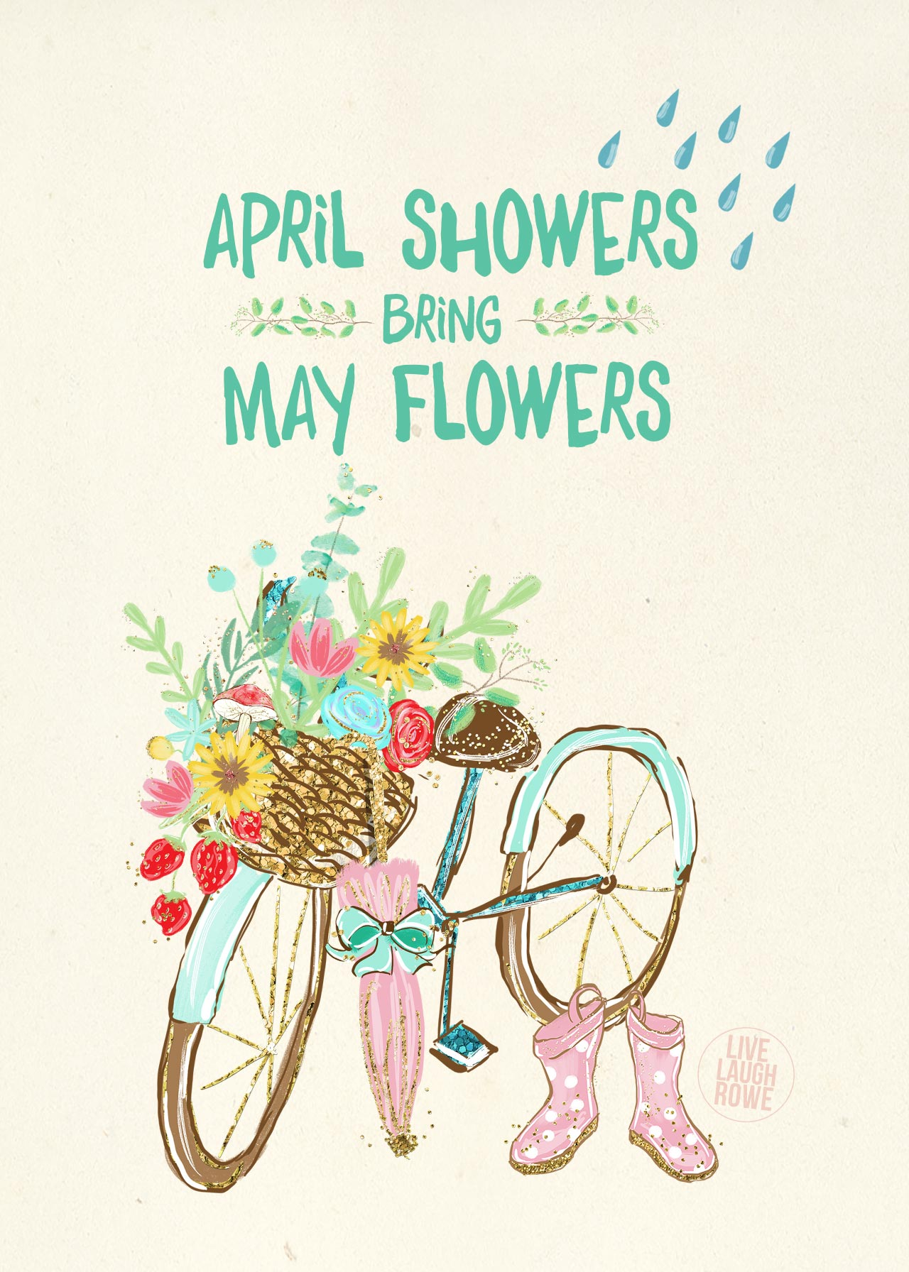 April Showers Bring May Flowers Printable