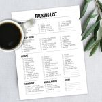 Free Printable Packing List for Travel