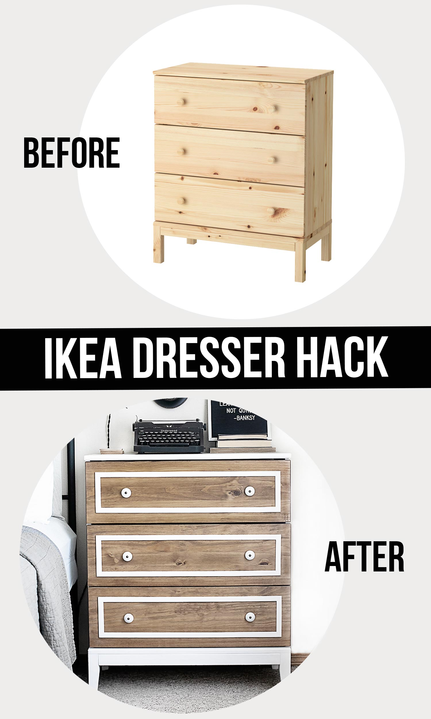 Furniture Makeover Before and After